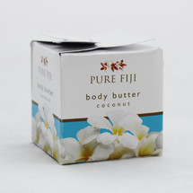 Pure Fiji Body Butter Coconut (Petal Box)  An excellent full body creme indulgence all year round.  Revive very dry skin.  Reduce the appearance of fine lines.  Instruction:   Apply to feet, hands. Great on extra areas: knees, elbows, feet and heels.  Made in Fiji.