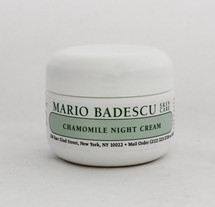 Mario Badescu Chamomile Night Cream 1oz  Excellent for sensitive skin types as this cream is instantly calming on blotchy, red skin.   Instruction: After cleansing and toning, apply all over face nightly, avoiding eye area.