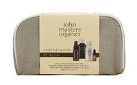 John Masters Organics Essential Travel Kit for Dry Hair, 4 pcs