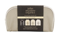John Masters Organics Essential Travel Kit For Hair Body, 4pcs
