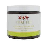 Pure Fiji Coconut Sugar Rub Coconut Lime Blossom Infusion, 15.5 oz.