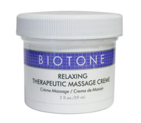 Biotone Relaxing Therapeutic Massage Cream, 2 oz.