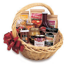 Linn's Best Sellers Gift Basket Fruit Preserves Marmalade Syrup Tea Pancake Waffle Scone Soup Mixes Honey