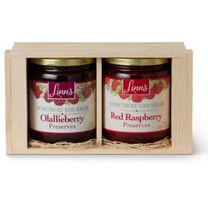 Linn's Fruit Preserves Gift Box – 2-Jar Wood Box