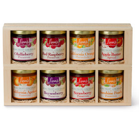 Linn's Fruit Preserves Gift Box – 8-Jar Wood Box