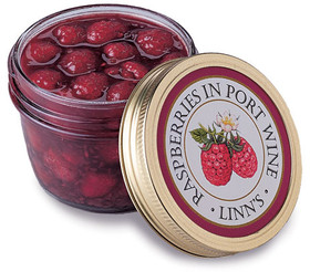 Raspberries in Port Wine