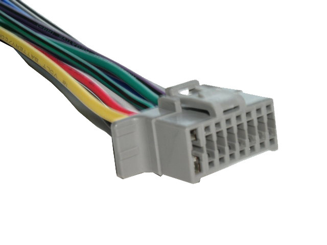 alpine cde 100 wiring harness 16 pin wire connector mobilistics