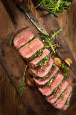 Grass Fed Roast Beef with Herb Crust