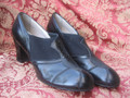 Vintage 1930's Art Deco Deadstock NOS Flapper Heels Shoes - Size 6 A