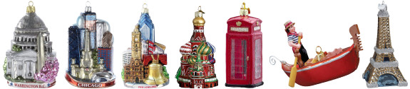 Christmas ornaments from around the world