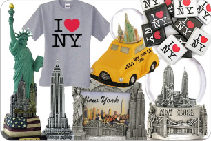New York City Souvenirs and Gifts on Sale in Times Square