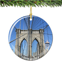 Porcelain Brooklyn Bridge Christmas Ornament