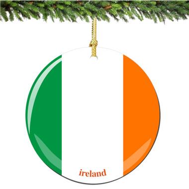 Porcelain Irish Flag Christmas Ornament