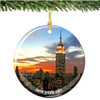Porcelain Empire Statue Building Christmas Ornament
