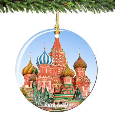 Porcelain Saint Basil's Cathedral Christmas Ornament