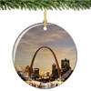 Porcelain Saint Louis Christmas Ornament