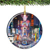 Porcelain New York City Times Square Christmas Ornament