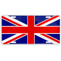 British Union Jack License Plate