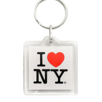 I Love NY Plastic Key Chain
