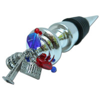 Washington DC Wine Bottle Stopper with Landmark Charms