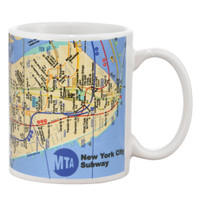 New York City MTA Subway Map Mug