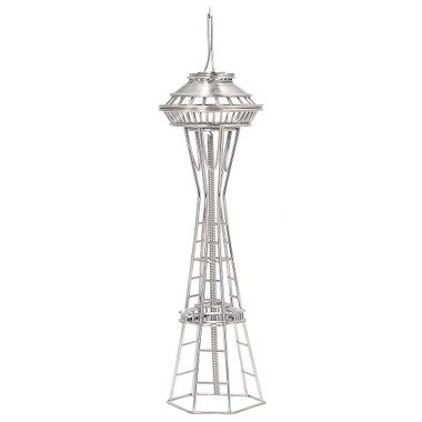 Seattle's Space Needle Replica Wire Model and Statue