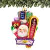 Glass Santa on Broadway Christmas Ornament