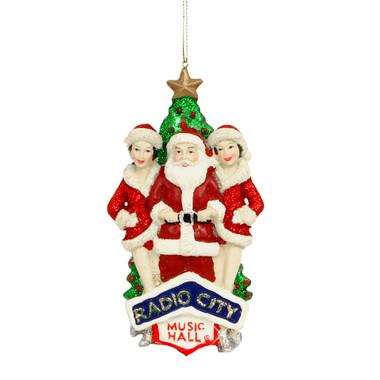 Radio City Rockettes and Santa Ornament