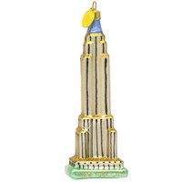 Glass NYC Empire State Building Christmas Ornament