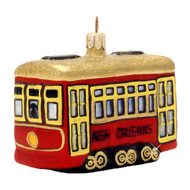 Glass Street Car New Orleans Christmas Ornament
