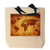 Antique World Map Canvas Tote Bag