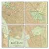 Brooklyn Antique Map Coaster Set of 4