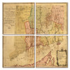 Connecticut Map Coaster Set of 4