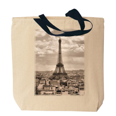 Eiffel Tower Canvas Tote Bag