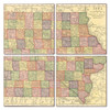 Iowa Map Coaster Set of 4