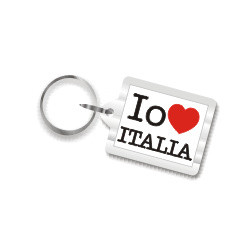 I Love Italy Plastic Key Chain
