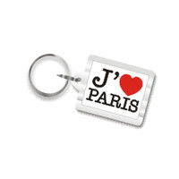 I Love Paris Plastic Key Chain