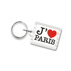 I Love Paris Plastic Key Chain