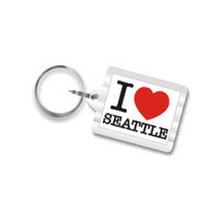 I Love Seattle Plastic Key Chain