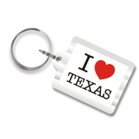 I Love Texas Plastic Key Chain