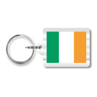 Irish Flag Plastic Key Chain