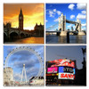 London Coaster Set of 4 Featuring Big Ben, London Tower Bridge, London Eye and Piccadilly Circus.