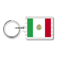 Mexican Flag Plastic Key Chain
