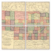 Nebraska Map Coaster Set of 4
