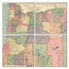 Oregon Map Coaster Set of 4