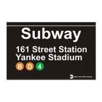 Subway Yankee Stadium Magnet