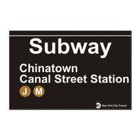 Subway Canal Street Station Chinatown Magnet
