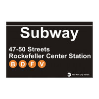 Subway 47th - 50th Street Rockefeller Center Magnet
