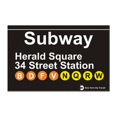 Subway 34th Street Station Herald Square Magnet