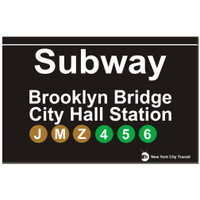 Replica Brooklyn Subway Sign